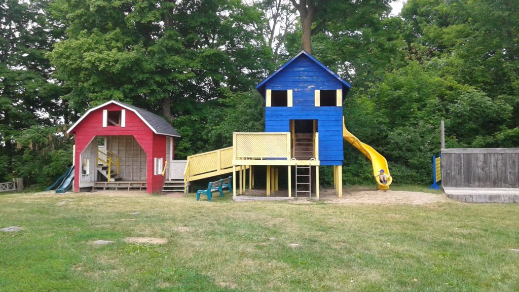 10. Barn, House, Yellow Slide