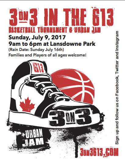 3 on 3 in the 613 – Basketball for a Great Cause!