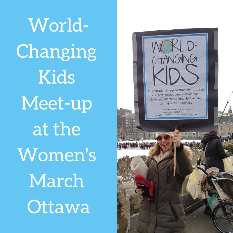 World-Changing Kids Meet-up for the Ottawa Women's March